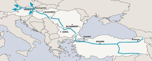 Trasa gazociągu Nabucco